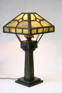 COLORED GLASS LAMP